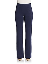 Derek Lam Flared Jersey Knit Trousers Navy