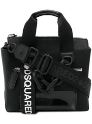 Dsquared2 Small Buckled Tote Bag Black