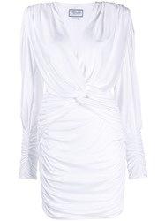 Redemption Ruched Detail Mini Dress White