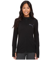 Puma Elevated Full Zip Hoodie Cotton Black Women's Sweatshirt