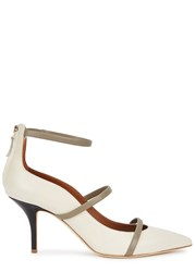 Malone Souliers Robyn Cream Leather Pumps White