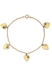 Jennifer Meyer 18 Karat Gold Multi Stone Bracelet One Size