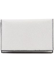 Valextra Classic Foldover Wallet Women Leather One Size Grey
