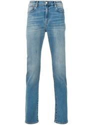 Paul Smith Ps By High Rise Straight Stonewashed Jeans Blue