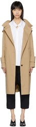 Kuho Beige Funis Oversized Trench Coat