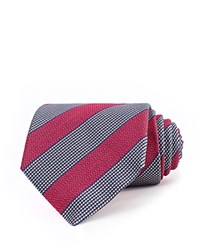 Thomas Pink Sandby Stripe Woven Classic Tie Red Blue