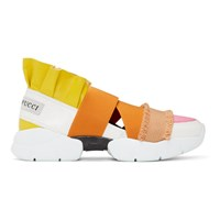 Emilio Pucci White And Yellow City Up Sneakers