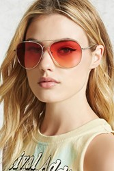 Forever 21 Neon Tinted Aviator Sunglasses