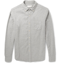 Alex Mill Button Down Collar Brushed Cotton Shirt Gray