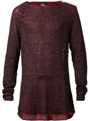 Lost And Found Picked Seam Sweater Red