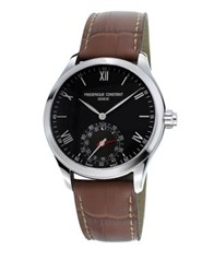 Frederique Constant Horological Leather Strap Smart Watch Brown
