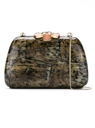 Serpui Mother Of Pearl Clutch Grey