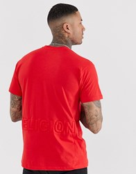 Religion Loose Fit T Shirt With Logo In Red