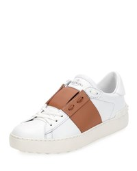 Valentino Colorblock Leather Low Top Sneaker Flesh