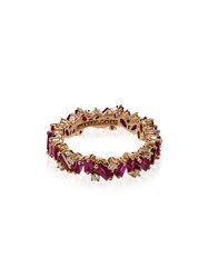 Suzanne Kalan 18Kt Rose Gold Eternity Ring Pink