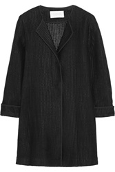 Goat Reine Woven Linen And Cotton Blend Coat