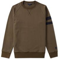 Lanvin Distressed Grosgrain Crew Sweat Green