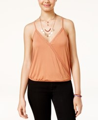 American Rag Juniors' Surplice Racerback Tank Top Created For Macy's Orange