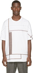 3.1 Phillip Lim White Embroidered T Shirt