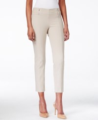 Alfani Skinny Pull On Zipper Detail Capri Pants Only At Macy's French Stone