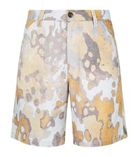 Acne Studios Allan Bark Shorts Male Multi