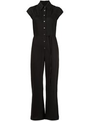 Raquel Allegra Flared Leg Jumpsuit Black