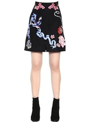 Temperley London Tattoos Hand Embroidered Poplin Skirt
