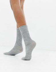 Jonathan Aston Rib Sock Grey