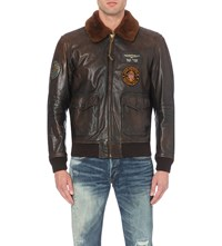 Ralph Lauren G1 Leather Bomber Jacket G1 Brown
