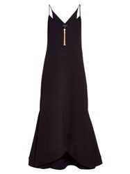 Ellery Roulette Zip Detail Crepe Cami Dress