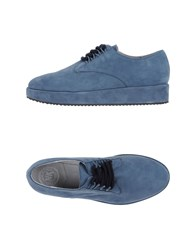 New Kid Footwear Lace Up Shoes Women Pastel Blue