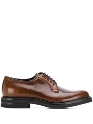 Brunello Cucinelli Classic Lace Up Derby Shoes Brown