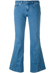 See By Chloe Flared Jeans Women Cotton Spandex Elastane 28 Blue