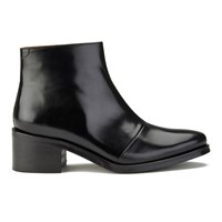 Folk Women's Kit Leather Heeled Ankle Boots Black