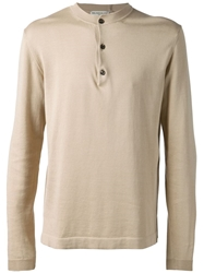 Melindagloss Button Fastening Sweater Nude And Neutrals