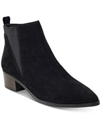 Marc Fisher Ignite Ankle Booties Women's Shoes Black Suede