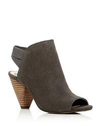 Vince Camuto Edora Open Toe Slingback Booties Gray