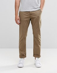 Only And Sons Slim Fit Chinos With Stretch Kangaroo Beige