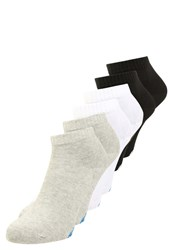 Champion 6 Pack Sports Socks Oxford Grey White Natural Black Yellow