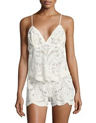 Flora Nikrooz Dorothy Embroidered Camisole And Shorts Set Candle Light