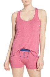 Honeydew Intimates Women's Rib Pajamas Heather Pitaya