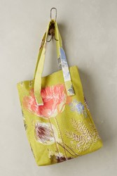 Anthropologie Sungarden Mesh Tote Dark Yellow