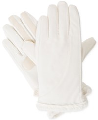 Isotoner Signature Soft Shell Tech Gloves Ivory