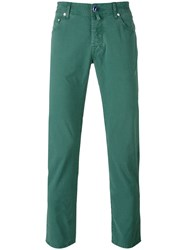 Jacob Cohen Classic Chino Trousers Men Cotton Spandex Elastane 34 Green