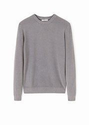 Mango Raglan Sleeve Sweater Grey