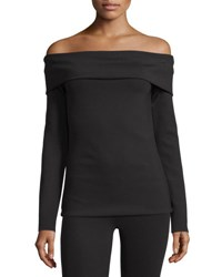 The Row Lupino Off Shoulder Top Black