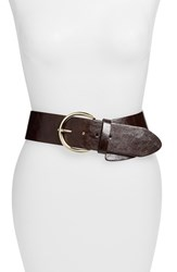 Women's Steven By Steve Madden Asymmetrical Stretch Belt Brown