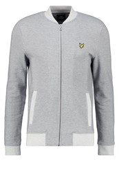 Lyle And Scott Bomber Jacket Mid Grey Marl Mottled Grey