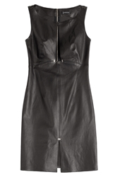 Jitrois Leather Dress With Keyhole Front