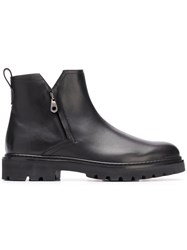 Salvatore Ferragamo Double Zip Boots Black
